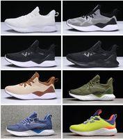 rebotar zapatillas al por mayor-2018 New Sale Adidas AlphaBounce  Yeezy  Beyond High canicas de tiburón fuera de las zapatillas de deporte Black Grey White Alpha Khaki bota de rebote zapatillas Eur 36-45