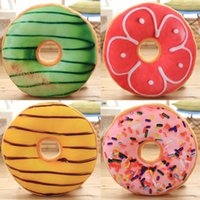 Peluche Donut Toy relleno de pan suave almohada asiento redondo cojín Food Sofa Party Decor Toy Throw Pillow para novia regalo de cumpleaños para niños
