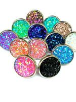 Wholesale drusy stud earrings - 40pairs Druzy Drusy Stud Earrings 12 Colors Rock Lava Crystal geometry Stone Earrings Jewelry for women Girl brithday christmas Gift
