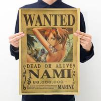 personagens profissionais venda por atacado-Pintado Marrom Poster Retro Comic Recompensa Kraft Paper Playbill Rectang Character Decor Adesivos de Parede Profissional Personalizado 0 69zx YB