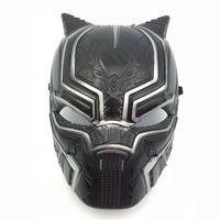 vengadores mascarillas de plastico al por mayor-Capitán América 3 máscara de la Pantera Negra 2018 New Avengers Fiesta de Halloween para adultos para adultos Cosplay Sombrero de plástico Máscaras Juguetes B