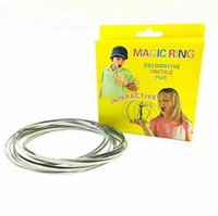 Wholesale create bracelets - Flow Rings Metal Toroflux Flow Ring Toys by While Moving Creates a Ring Flow Rainbow Toys Bracelets Retail box BBA62