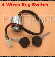 зажигание мотоциклов оптовых-4 Wires ATV Quads Ignition Key Switch For 4 Wheeler Go Kart Motorcycles Pit Dirt Bike