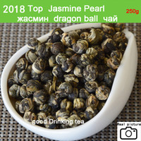 Wholesale Chinese Dragon Tea - [mcgretea]2018 Promotion ! 250g superior Jasmine Flower Tea Premium Jasmine Dragon Pearl Tea Health Care Green Wholesale Chinese Tea