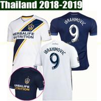 Wholesale la soccer resale online - MLS FC Los Angeles Galaxy Jersey LA Soccer Zlatan Ibrahimovic Jonathan dos Santos DOS SANTOS Giovani Football Shirt Kits