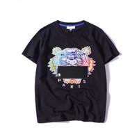 ingrosso zanne animali-Estate Designer T-shirt per uomo Top Tiger Head Lettera ricamo T Shirt Mens Abbigliamento Marca manica corta Tshirt Donna Top S-2XL