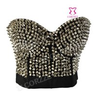 6e42599b37 New 2014 Sexy Silver Studded Rivet Bras Fashion Women Push Up Bralet  Bustier Underwear Disco Dance Bra Punk Brassiere Lingerie
