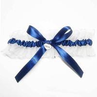 470c739645 2018 azul blanco correa de la boda del liguero de las mujeres anillo de  lazo cosplay lencería sexy de encaje liga nupcial hecho a mano bowknot  ligueros