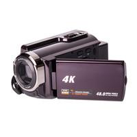 hdd kameralar toptan satış-48MP 4 K Kameralar, 4 K Ultra HD Taşınabilir 30FPS Wifi Dijital Video Kamera, IR Gece Görüş Kamera