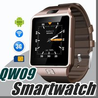 Wholesale Bs Silver - 2017 3G WIFI QW09 Android Smart Watch 512MB 4GB Bluetooth 4.0 Real-Pedometer SIM Card Call Anti-lost Smartwatch PK DZ09 GT08 Z-BS