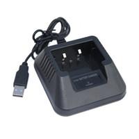 Wholesale two way radio charger - Baofeng UV5R USB Battery Charger For Portable Two Way Radio Walkie Talkie Baofeng Uv-5r Uv-5re 5RB Uv-5ra Accessories