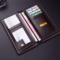 Wholesale Top Quality Mens Wallets - 2018 new fashion mens brand designer coffee wallet leather long wallet luxury leather clip folder men top quality Money Purses 171225007-