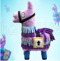Wholesale wholesale stuffed animal fabric - 25cm Fortnite Stash Llama Plush Toy 10'' Soft Stuffed Doll cartoon Fortnite Stuffed Animals children gift KKA5534