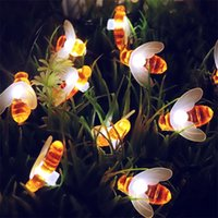 Wholesale xmas lights wholesale for sale online - New Solar String Lights With LED Outdoor Waterproof Simulation Honey Bees Decor Light For Garden Xmas Party Decorations Hot Sale hx aa