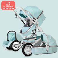 sistemas de asiento al por mayor-Cochecito de bebé 3 en 1 con asiento de coche para recién nacido Vista alta Cochecito de bebé plegable Sistema de viaje de carro carrinho de 3 em 1