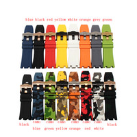 Wholesale silicone rubber sell - CARLYWET 28mm Wholesale Hot Sell Black White Red Yellow Waterproof Silicone Rubber Replacement Wrist Watch Band Strap Belt