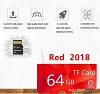 32gb micro sd uhs achat en gros de-Cartes mémoire en gros Rouge 2018 Carte mémoire étanche haute vitesse C10 Carte mémoire Micro SD C10 de 32 Go à 128 Go