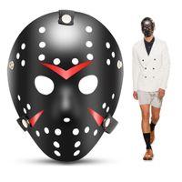Wholesale black jason mask resale online - Halloween Costume Mask Jason Mask Masquerade Cosplay Prop Black Festive Party Supplies Masks