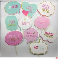 ingrosso spettacoli nuziali favori-Team Bridal Shower Prop Wedding Bride To Be Photo Booth Puntelli Bomboniere Decor Articoli per eventi Flessibile Creative 5 5cy jj