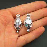 Wholesale Bright Design - In 2018, the new design is bright silver spider man pearl cage 10pcs jewelry making pearl cage pendant essence oil diffuser pearl pearl.
