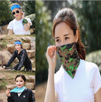 Wholesale wholesale red sun scarves - Magic Riding Hood towel Bicycle Motorcycle sun hood Summer multifunctional UV protection Sand prevention collar Cold silk dry scarf LJJG1