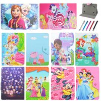 "Wholesale tablet case stand for kids - Universal 7""inch Tab New Kid Color Pretty Printing Buckle Leather Stand Folio Covers Case for Universal 10~10.1""inch tablet PC"