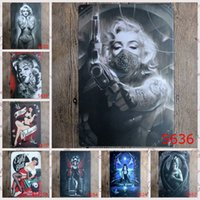 Wholesale sexy paintings art online - 20 cm Vintage Retro Metal Sign Poster Sexy Girl Plaque Club Home art iron metal Painting Pub Bar Garage Wall Decor FFA949