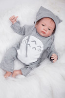 Wholesale Handmade Collectible Dolls - 50cm 20 inch Handmade Reborn Baby Doll Girl Newborn Life like Soft Vinyl silicone Soft Gentle Touch Cloth Body Magnetic pacifier YDK-2R1
