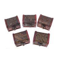 chinesische schnitzerei hölzern großhandel-neues Design Vintage Holz Blume Schmuckschatulle mit Metall Schloss chinesischen Stil Süßigkeiten geschnitzt Aufbewahrungsboxen