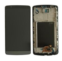 lg g3 için dokunmatik ekran paneli toptan satış-LG G3 G4 D820 Için yüksek kalite LCD Ekran Dokunmatik Ekran Digitizer Meclisi ile Çerçeve ile