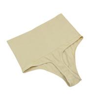 Wholesale thong pants girl - BONJEAN women Thong Pants Cotton Spandex Slimming girl Briefs High Waist Sexy Panties female Underwear lingerie undies hipster
