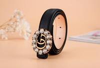 linda aguja al por mayor-Diseñador Moda Niños Clásico Aguja Hebilla Cintura Lichee Patrón Piel brillante Fruta Colores Correas lindas
