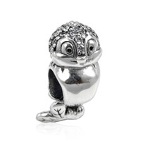 Wholesale sterling silver bracelet ends resale online - 925 Sterling Silver Jewelry New Beads Accessories Snow White Princess Birds Fits Pandora Charm Bracelets DIY Jewelry making