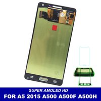 Wholesale samsung galaxy a5 screen assembly online - 100 Tested AMOLED LCDS For Samsung Galaxy A5 A500 A500H A500F A500M LCD Display Touch Screen Assembly with Sticker Glass