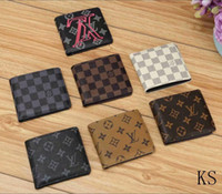 Wholesale note clutch for men for sale - Group buy 2018 high quality Red Wallets Purse Clutch Bags Classic Brand Short Wallet Gifts For Men Women Designer Coin Purses