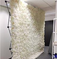 ingrosso stand di tubo nero-Moda fiore muro di nozze con stand nero di ferro piegato tubo cornice del fiore per la decorazione della festa nuziale forniture