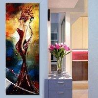 óleo lona pinturas mulheres venda por atacado-Grande Wall Decor Art Pictures Handmade Figura Abstrata Pintura A Óleo Pintados À Mão Pinturas Sobre As Mulheres Do Vinho Na Lona Para Casa