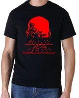 moda do amanhecer venda por atacado-Moda 2018 Verão DAWN OF THE DEAD RETRO 70 s HORROR ZOMBI FILME T-SHIRT T-Shirt dos homens t shirt Tops Tees