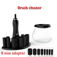 Wholesale Electronic Makeup - 2018 brand new universal makeup brush cleaner 3mm-30mm 8 size electronic brush wash merchine high speed spins and dries brush washer
