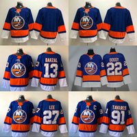 Wholesale Hockey Jerseys 22 - 13 Mathew Barzal Jersey 2017-2018 Season New York Islanders 27 Anders Lee 91 John Tavares 22 Mike Bossy Hockey Jerseys Cheap