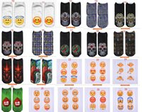 emoji calcetines hombres al por mayor-Emoji 3D mujeres hombres emoji calcetines cortos tobillo chicas grandes otoño invierno calcetines calcetines de corte bajo 48 estilos