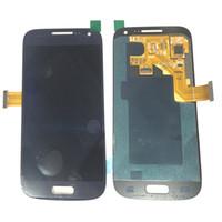 ingrosso i9195 schermo di tocco dello schermo dell'affissione a cristalli liquidi-Super AMOLED LCD originale Touch Screen Digitizer per Samsung Galaxy S4mini i9190 i9195 Nero bianco con vetro temperato DHL logistica