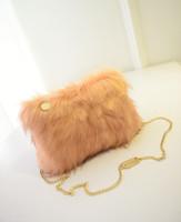 bolsos de piel azul al por mayor-Mujeres Satchel Hobo Clutch Purse NUEVA llegada Faux Fur Handbag Zipper Fashion Chains Bolsas de hombro Negro Azul Rosa