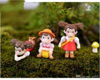 статуэтки феи кукол оптовых-Микро пейзаж орнамент Тоторо стиль мультфильм Хаяо Миядзаки фильм сказочный сад миниатюры ПВХ милые аниме фигурка Diy сказочные куклы 1 1dd jj
