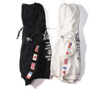 tasarım hoodie erkek toptan satış-Dünya Turu bayrak hoodies erkekler tasarımlar moda unisex kazak çift kadın WT bayrakları hoodie erkekler giyim D25
