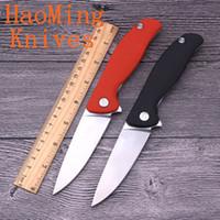 çevirme bıçakları toptan satış-Açık survival pratik el aracı D2 blade ABS plastik saplı rulmanlar flip taktik katlanır bıçaklar avcılık kamp hediye Mutfak