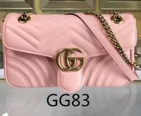 nackte frauen kette großhandel-Mode Marmont Taschen Frauen Handtasche Tasche Umhängetaschen Dame Kleine Golder Ketten Totes Handtaschen Taschen nude pink
