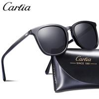 Wholesale mens sunglasses polarized lenses for sale - Group buy Carfia polarized sunglasses square designer sunglasses mm colors glasses mens women sun glasses with case