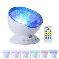 Wholesale baby projector lamps - Ocean Wave Starry Sky Aurora LED Night Light Projector Luminaria Novelty Lamp USB Lamp Nightlight Illusion For Baby Children
