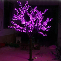 Wholesale cherry blossom christmas tree - LED Artificial Cherry Blossom Tree Light Christmas Light 1248pcs LED Bulbs 2m 6.5ft Height 110 220VAC Rainproof Outdoor Use Free Shipping
